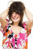 Tousled hair — Stock Photo