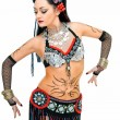 Step in tribal dance — Stock Photo