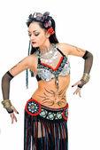 Step in tribal dance — Stock Photo