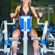 Smiling woman bodybuilder — Stock Photo #11347323