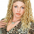 Stock Photo: Wearing in leopard tone