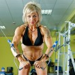 Woman bodybuilder — Stock Photo