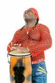 Performer on percussoin — Stock Photo