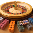 Gold roulette wheel — Stock Photo #11719796
