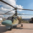 A Russian combat helicopter Ka-52 on display at — Stock Photo