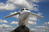 Tupolev Tu-144 was a Soviet supersonic transport aircraft — Stock Photo