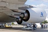 A380 aircraft jet engine — Stock Photo