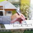 Drawing ahouse — Stock Photo #10739670