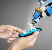 Beröring skärm rörlig telefonerna — Stockfoto