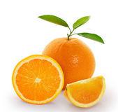 Naranja sobre fondo blanco — Foto de Stock
