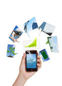 Touch screen mobile phone — Stock Photo