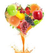 Coração de suco — Foto Stock