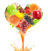 Juice heart — Stockfoto