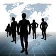 Silhouettes of business — Stockfoto