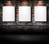 Empty frames on wall — Stock Photo