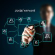 Drawing social network — Stock Photo #10909380