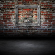 Old frame against wall — Stock Photo