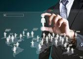 Sociala nätverksstruktur — Stockfoto