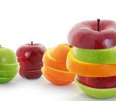 Mixed Fruit apple sliced — Stock Photo