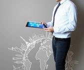 Dokunmatik tablet kavramı — Stok fotoğraf