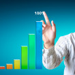Pointing graph — Stock Photo #11154282