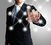 Estrutura de rede social — Foto Stock