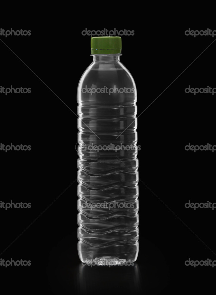 Bottle of water on black background — Zdjęcie stockowe #11275951