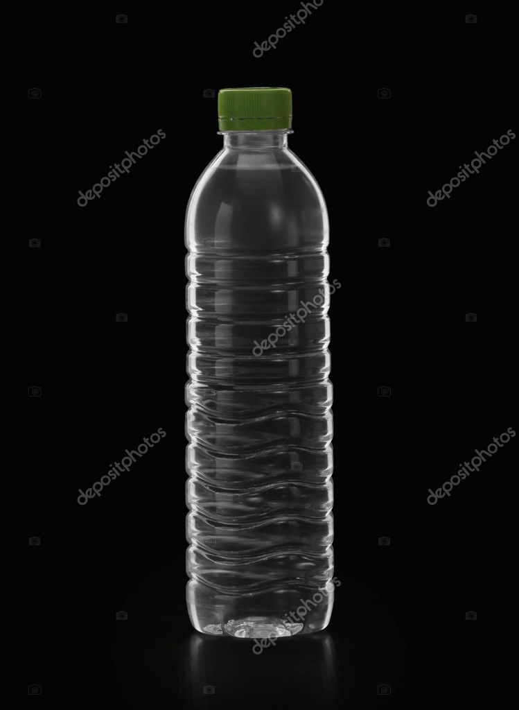 Bottle of water on black background — Photo #11275951