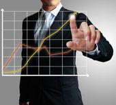 Tekening van een grafiek — Stockfoto