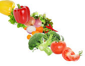 Mixed shape by various vegetables — Stock Photo