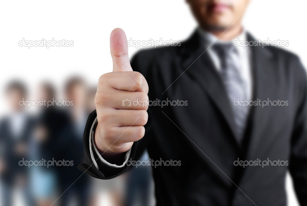 Business man hand with thumb up — Stock Photo #11527307