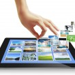Touch tablet concept images streaming — Stock Photo #11550726