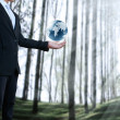 Royalty-Free Stock Photo: Earth globe in his hands