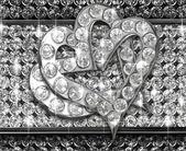 Srdce diamant — Stock fotografie