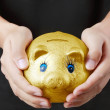 Mwith piggy bank — Stock Photo #11604235