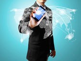 Touch-screen handy — Stockfoto