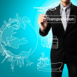 Stock Photo: Drawing transportation