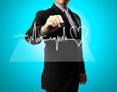Drawing health, heart — Stock Photo