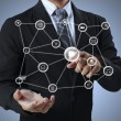 Social network structure — Stock Photo #12035787