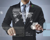 Touch screen interface — Stock Photo