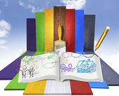 Open book — Foto Stock