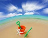 Sand bucket at the beach — ストック写真