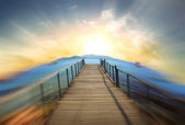Jetty over the beautiful sea — Stock Photo
