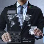 empujar la estructura de red social — Foto de Stock