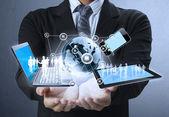 технологии в руках — Стоковое фото