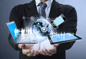 Technologie v rukou — Stock fotografie