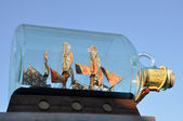 Ship in a bottle in London — Stock Photo