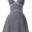 Checkered sundress — Stock Photo