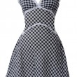 Checkered sundress — Stok fotoğraf