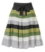 Striped skirt — Stock Photo